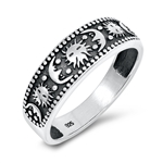 Silver Ring - Moon and Sun - $4.92