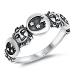 Silver Ring - Moon and Sun - $5.15