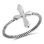 Silver Ring - Cross - $2.82