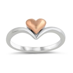 Silver Ring - Heart - $4.12