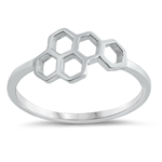 Silver Ring - Honeycomb - $2.64