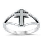 Silver Ring - Cross - $3.63
