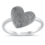 Silver Ring - Heart - $3.70