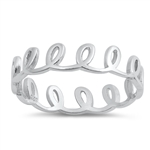 Silver Ring - Loops - $3.06