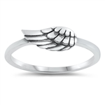 Silver Ring - Wing - $2.68