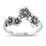 Silver Ring - Flowers