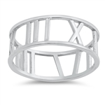Silver Ring - Roman Numeral Band - $3.38