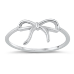 Silver Ring - Ribbon - $2.18