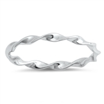 Silver Ring - Thin Twisted Band - $2.10