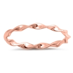 Silver Ring - Thin Twisted Band - $2.18