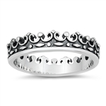 Silver Ring - Crown - $4.33