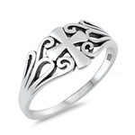 Silver Ring - Cross - $3.54
