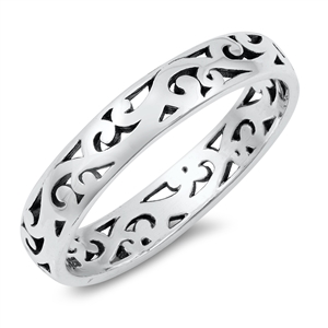 Silver Ring - Vines - $3.56