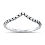 Silver Ring - V Shape - $2.29