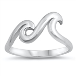 Silver Ring - Two Waves - $4.64