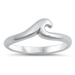 Silver Ring - Wave - $3.94