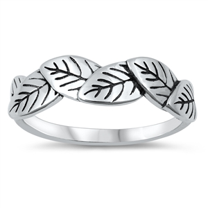 Silver Ring - Leaves - $3.92