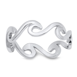 Silver Ring - Waves - $4.08