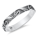 Silver Ring - Waves - $3.75