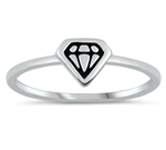 Silver Ring - Diamond - $2.24