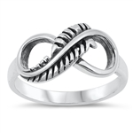 Silver Ring - Feathered Infinity - $5.18