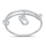 Silver Ring - Dangling Heart - $2.87