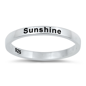 Silver Ring - Sunshine - $2.81