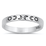 Silver Ring - Moon Phases - $3.60