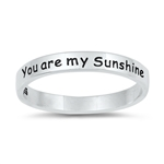 Silver Ring - You are my sunshine - $3.15