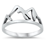 Silver Ring - Mountains - $3.79