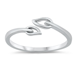 Silver Ring - Leaves - $2.43