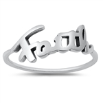 Silver Ring - Faith - $2.13