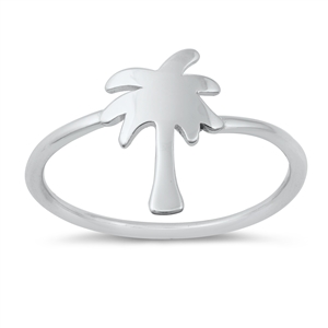 Silver Ring - Palm Tree - $2.52