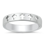 Silver Ring - Cross Band - $3.99
