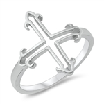 Silver Ring - Cross - $3.76
