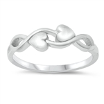 Silver Ring - Infinity and Hearts - $3.15