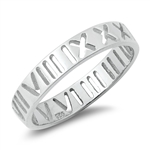 Silver Ring - Roman Numeral Band - $3.22