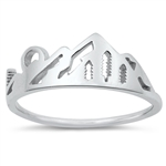 Silver Ring - Sunset w/ Mountain - $3.06