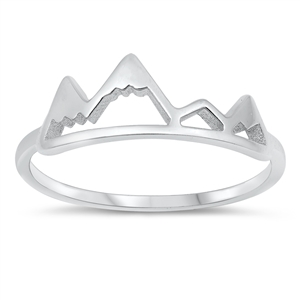 Silver Ring - Mountains - $2.35