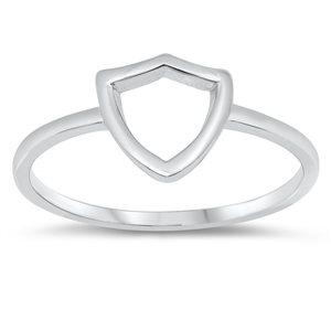 Silver Ring - Shield - $2.24