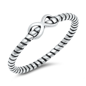 Silver Ring - Infinity Rope - $2.45