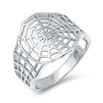 Silver Ring - Spider Web