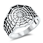 Silver Ring - Spider Web - $5.4
