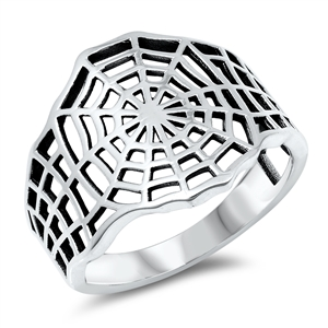 Silver Ring - Spider Web - $4.61