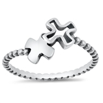 Silver Ring - Crosses - $2.59
