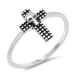 Silver Ring - Skull Cross - $2.94