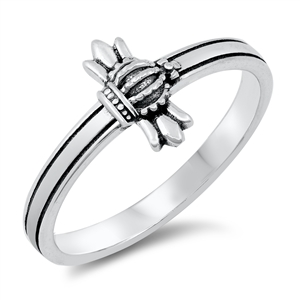 Silver Ring - Medieval Cross - $3.32