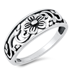 Silver Ring - Flower Filigree - $3.19