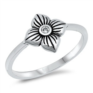 Silver Ring - Flower - $3.47