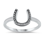 Silver Ring - Horseshoe
